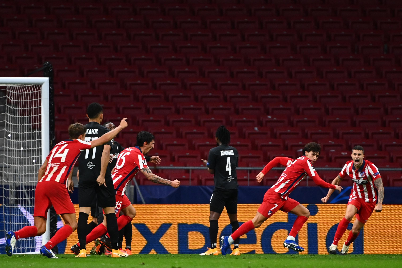 Atlético de Madrid 3x2 RB Salzburg pela Champions League Group A. João Felix marcou duas vezes.