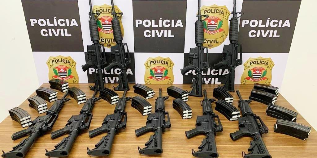 Já houve apreensão de 11 fuzis, duas pistolas, uma carabina e 58 carregadores
