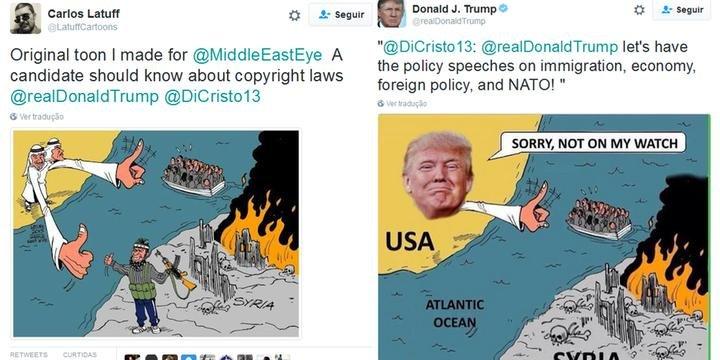 Trump Compartilha Charge Adulterada De Cartunista Brasileiro