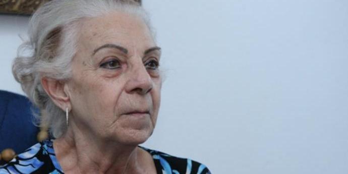 Jussara Uglione, 76 anos, estava internada no Hospital de Caridade
